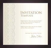 Luxury Creamy Invitation With Imitation Of Lace