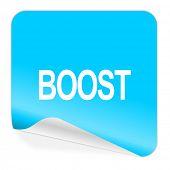 boost blue sticker icon
