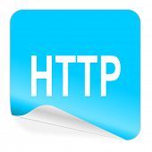 http blue sticker icon