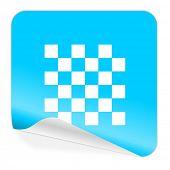 chess blue sticker icon