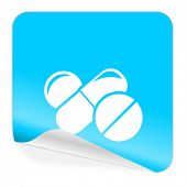 medicine blue sticker icon