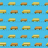 Pixel school bus background