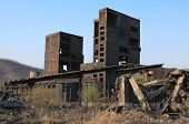 picture of mica  - Ruins of a very heavily polluted industrial site at Copsa Mica Romania - JPG