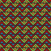 Zig Zag Abstract Batik Pattern