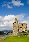 Bruce's castle at Tarbert Loch Fyne, Kintyre, Scotland