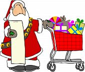 Santa With A Shopping Cart