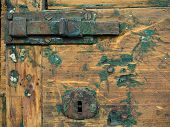 Old lock on old door