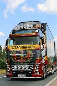 Show Truck Tutankhamun Volvo Fh16 In Lempaala, Finland