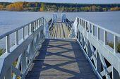 The floating bridge in the Lusatia