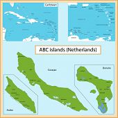 stock photo of curacao  - Map of the Aruba - JPG