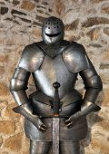 the historical armor and sword