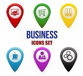 Set Of Business Locators Icons