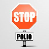 detailed illustration of a red stop polio sign, eps10 vector