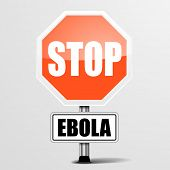 detailed illustration of a red stop ebola sign, eps10 vector