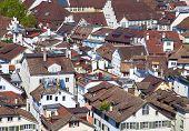 View of the Zurich donwtown (Switzerland, 2014)