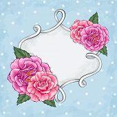 Beautiful roses frame card