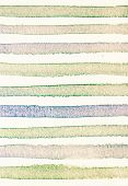 Watercolor Paper Background With Vintage Colorful  Stripes