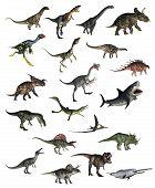Set of dinosaurs - 3D render