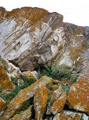 Nature Of Lake Baikal. Ledges Of Rocks