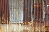 Old galvanized steel wall background