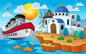 Greek theme image 8 - eps10 vector illustration.
