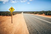 An image of a Australia road sign Mallee Fowl