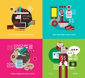 Flat Style UI Icons to use for your business project, infographics, marketing promotion, mobile adve