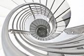 White Building Spiral Stairs