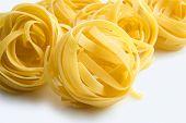Heap Of Raw Dry Nest Pasta