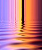 Line And Color Full Refectiom On The Wave Of Surface Water Abstract Background