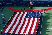 The opening ceremony before US Open 2013 men final match at Billie Jean King National Tennis Center