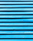 Old Blue Painted Wood Wall