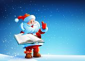 pic of christmas claus  - Santa Claus is standing in the snow snow New Year - JPG