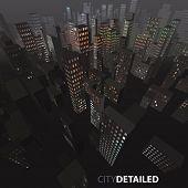 Vector night city background