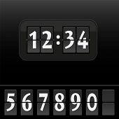 Digital Dial Clock Face Black