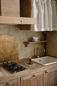 kitchen design in old fashion style