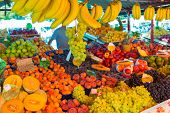 Fruit market stall.