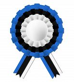 Estonian Rosette Represents Waving Flag And Celebration