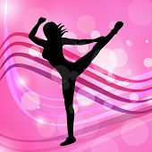 Yoga Dancing Represents Meditated Disco And Posing