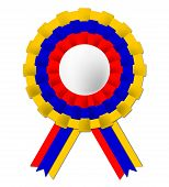 Columbian Rosette Means South America And Celebration