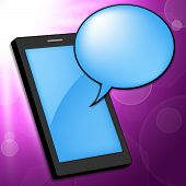 Mobile Phone Indicates Telephone Portable And Chat