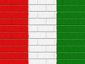 Hungarian Flag Represents Blank Space And Cement