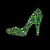 Woman Shoe Shape