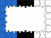 Estonia Jigsaw Represents Blank Space And Copy-space