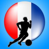 Soccer Player Represents National Flag And Country