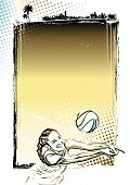 .beach Volleyball Poster Background