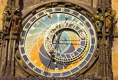 Astronomical Clock In Prague (czech Republic) In The Old Town Square.
