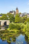 Old Lahn Bridge And View To Wetzlar Dome