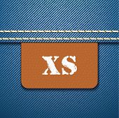 XS size clothing label - vector illustration