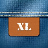 XL size clothing label - vector illustration